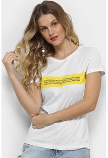 Camiseta Calvin Klein #Mycalvins Feminina - Feminino-Amarelo