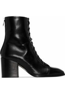 Aeyde Ankle Boot Lotta Com Salto 75Mm - Preto