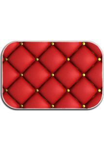 Tapete Decorativo Lar Doce Lar Botonê 40Cm X 60Cm Vermelho
