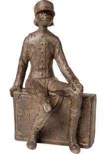 Escultura Decorativa De Resina Soldier