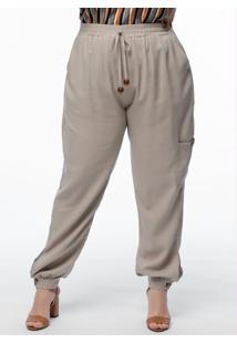 Calça Plus Size Cru Linho
