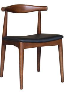 Cadeira Madeira Escura Carina -Rivatti - Marrom