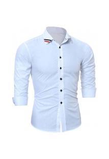 Camisa Masculina Manga Longa 7672 - Branca