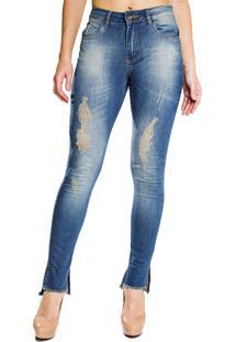 41a2cc4209 ... Calça Jeans Zamany Slim Azul Mullet Rasgada