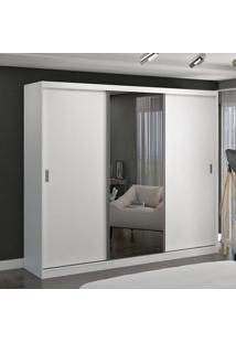 Guarda Roupa Casal 3 Portas C/ 1 Espelho Branco M Foscarini - Tricae