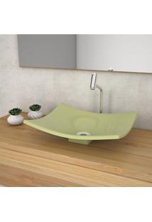 Cuba De Apoio Para Banheiro Compace Folha Bari F44W Verde Acqua