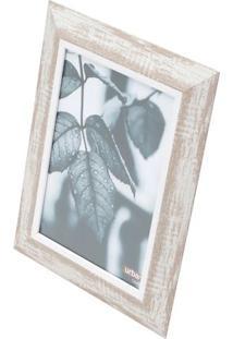 Porta Retrato Vintage Wood- Marrom Claro & Branco- Turban