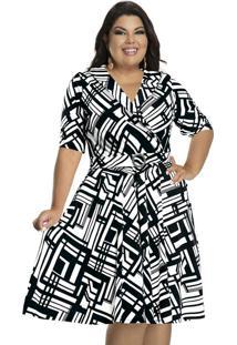 Vestido Bicolor Plus Size
