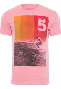 Camiseta Masculina Hang - Rosa