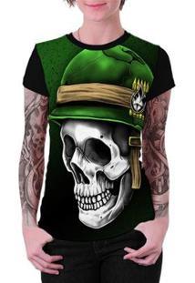 Camiseta Stompy Estampada Feminina - Feminino-Preto