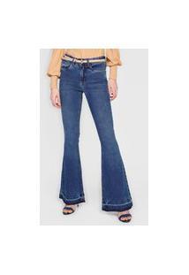 Calça Jeans Calvin Klein Flare High Azul