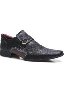 Sapato Social Calvest Em Couro Masculino - Masculino-Preto
