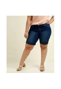 Bermuda Plus Size Feminina Jeans Puídos Biotipo