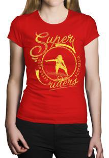 Camiseta Baby Look Hshop Super Rider Vermelho