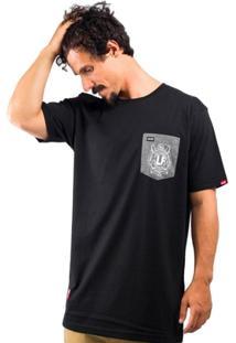 Camiseta Alfa Pocket Brasao - Masculino