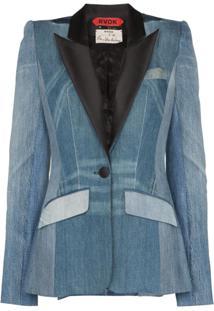 Ronald Van Der Kemp Blazer Jeans 'Smoking' - Azul