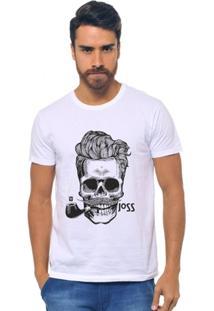 T-Shirt Joss Caveira Charuto Masculina - Masculino