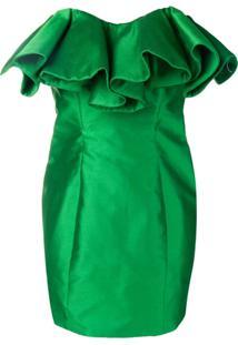Attico Vestido Com Bustier Estruturado - Green