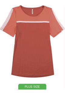 Blusa Com Recorte E Tira Sobreposta Vermelho