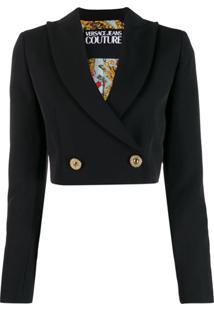 Versace Jeans Couture Blazer Cropped - Preto