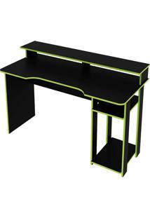 Mesa Gamer Preto/Verde Tecno Mobili - Preto - Dafiti