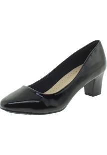 Sapato Feminino Salto Mã‰Dio Facinelli - 62402. - Preto - Feminino - Dafiti