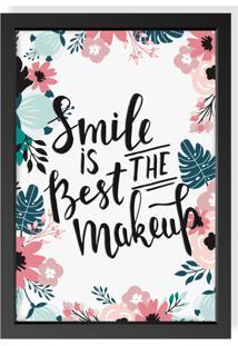 Quadro Decorativo Smile Is Best Preto