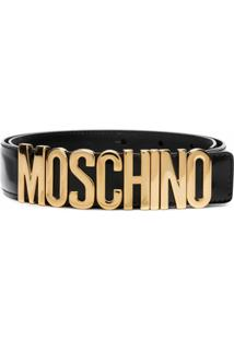 Moschino Cinto Com Logo - Preto