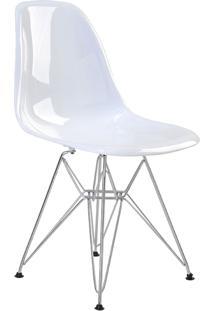 Cadeira Eif.S/Br Pc Branco Solido Base Cromada Rivatti - Branco - Dafiti