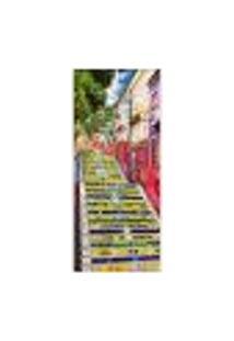 Adesivo Decorativo De Porta - Escadaria Selarón - 378Cnpt Auto Colante