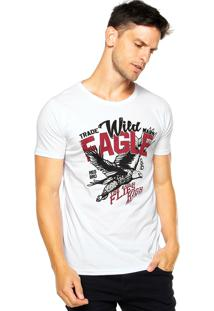 Camiseta Fiveblu Manga Curta Eagle Branca