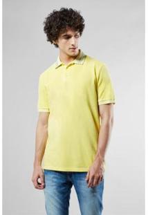 Camisa Polo Reservado Diferenciada Reveillon - Masculino-Amarelo