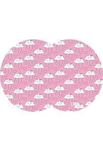 Tapete Pet Mdecore Geométrico Nuvem Rosa 54X39Cm