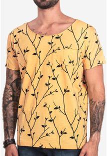 Camiseta Galhos Amarela 101915