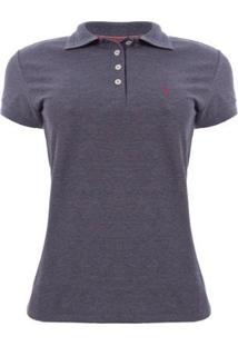 Camisa Polo Aleatory Mini Print Show Feminina - Feminino