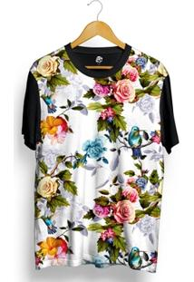 Camiseta Bsc Blue Bird In Bloom Full Print - Masculino
