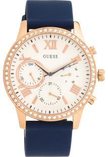 Relógio Guess 92686Lpgdru8 Azul-Marinho/Bronze