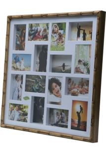 Painel Bambu Collection Para 16 Fotos 10X15 61X61X5Cm - Unissex