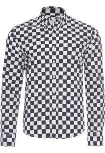 Camisa Masculina No Pocket Rollup - Preto