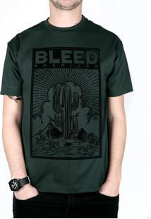 Camiseta Bleed American Cactus Musgo