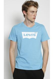 Camiseta Levi'Sâ®- Azul Claro & Brancalevis