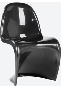 Cadeira Panton (Fibra De Vidro) Preto