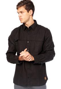 Camisa Manga Longa West Coast 61301 Preta
