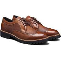 0de9fcb045 Sapato Casual Couro Élie Brogue Oxford Tadmor Masculino - Masculino-Marrom