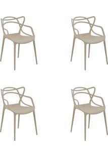 Kit 04 Cadeiras Allegra Nude Rivatti