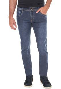 Calça Jeans Sawary Skinny Básica Azul