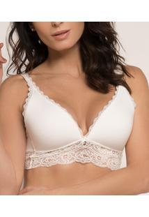 Top Bralette Com Renda Lucitex Conforto (5075), Nude, P