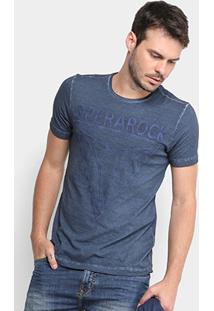 Camiseta Opera Rock Estonada Estampada Masculino - Masculino-Azul