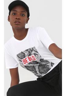 Blusa Calvin Klein Jeans Be Bold Branca - Branco - Feminino - Algodã£O - Dafiti