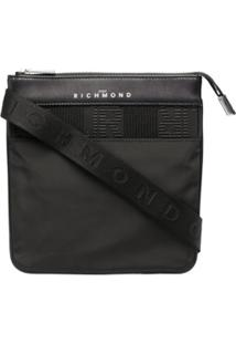 John Richmond Logo-Embossed Shoulder Bag - Preto